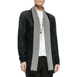 NWT Eileen Fisher Organic Cotton Open Cardigan Med
